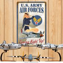 US Army Air Forces Pin Up Girl Recruitment Sign
