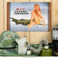 B-17 Flying Fortress WWII Pin Up Girl Sign