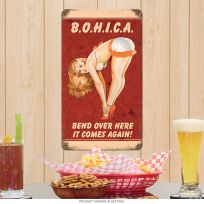 Bohica US Marines Vintage Pin Up Girl Sign