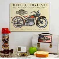 Harley-Davidson 74 Big Twin 1933 Garage Sign