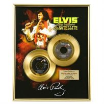 Elvis Aloha from Hawaii Framed Gold Record Display