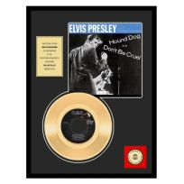 Elvis Hound Dog Framed Gold Record Display