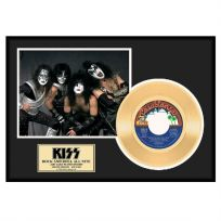 Kiss Rock n Roll All Nite Framed Gold Record Display