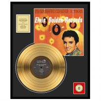 Elvis Golden Records Framed Gold Album Display