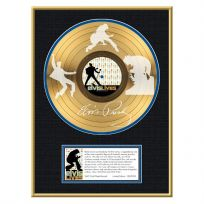 Elvis Lives Framed Gold Record Display