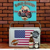Harley-Davidson Legendary Babe Girl Tin Sign_D