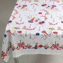 Happy Birthday Square Tablecloth 52 x 52