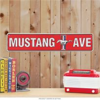 Mustang Avenue Steel Garage Decor Street Sign