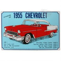 Chevrolet Bel Air 1955 Classic Car Metal Sign
