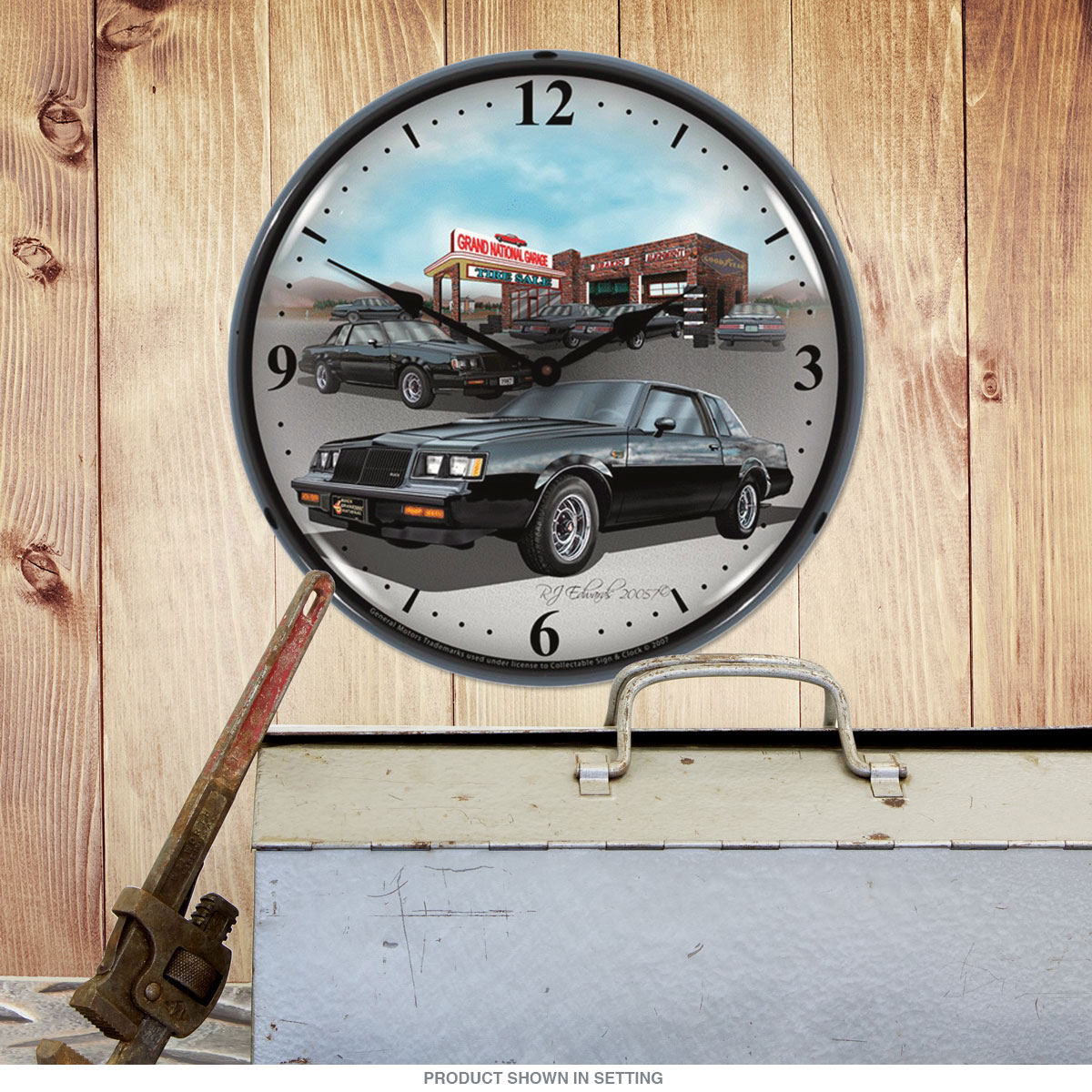 Buick 1987 Grand National Light Up Garage Clock