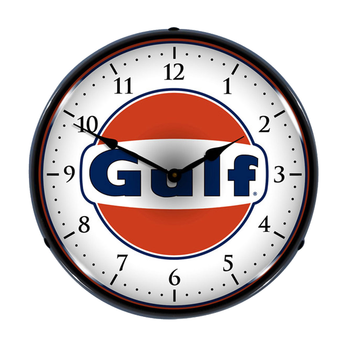 Gulf oil logo light up wall clock vintage garage clocks light up garage clock close video aloadofball Images