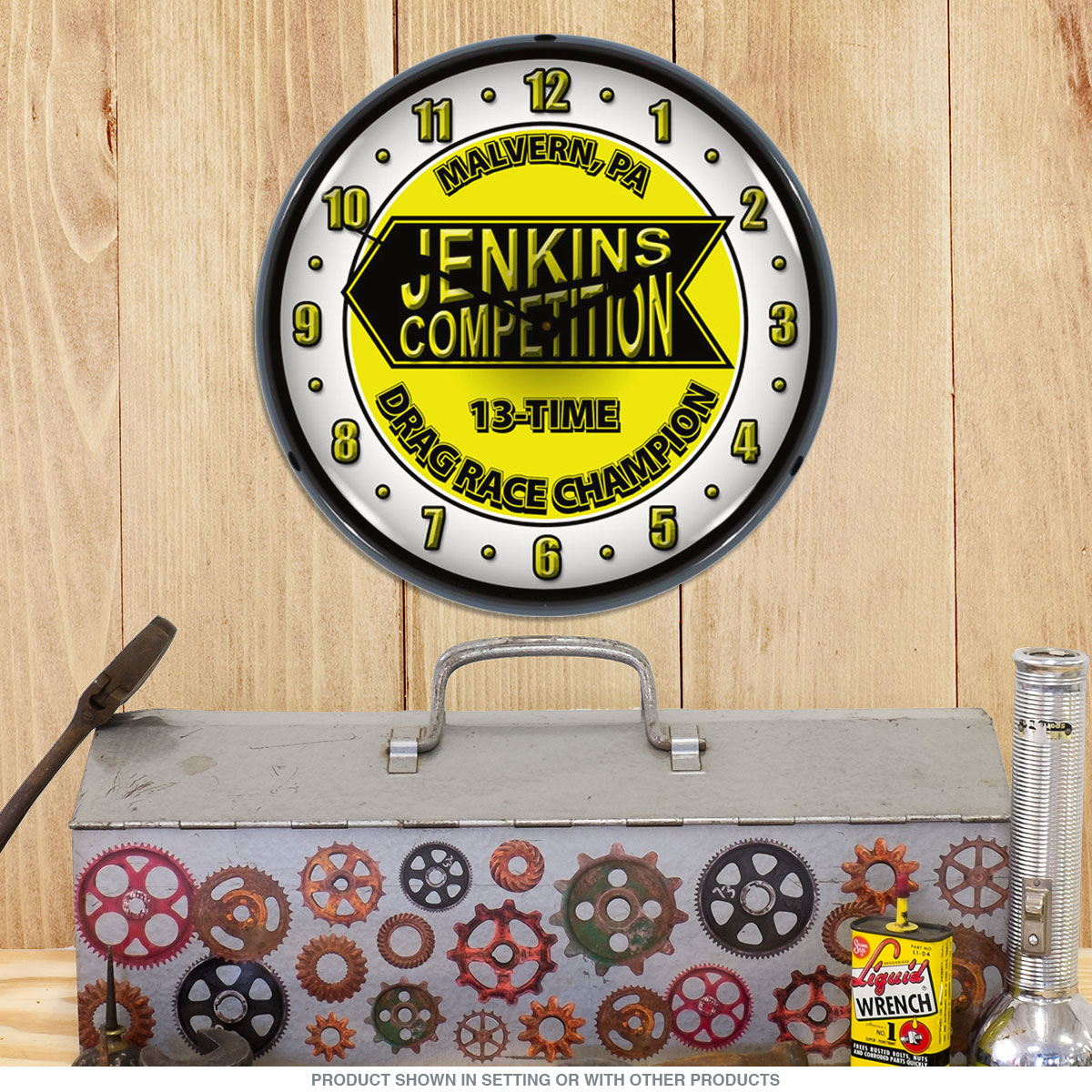 Jenkins Competition Drag Race Champion Light Up Clock