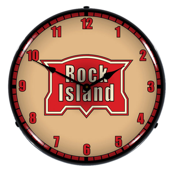 Chicago Rock Island Railroad Logo Light Up Clock