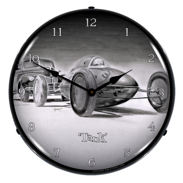 Tank Bellytank Racer Light Up Garage Clock