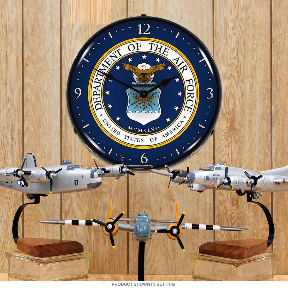 United States Air Force Light Up Military Clock