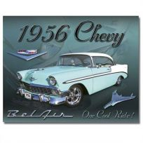 1956 Chevy Bel Air One Cool Ride Tin Sign