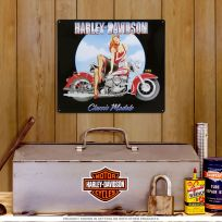Harley-Davidson Classic Models Babe Pinup Sign