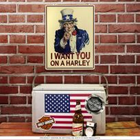 Harley-Davidson Uncle Sam I Want You Garage Sign