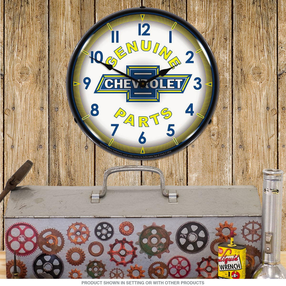 Chevrolet Genuine Parts Light Up Garage Clock