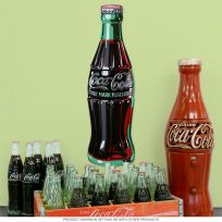 Coca-Cola Bottle Embossed Metal Sign