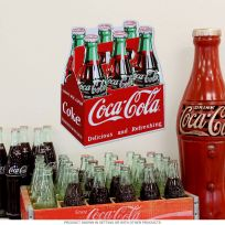 Coca-Cola Bottle Carton Embossed Metal Sign