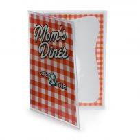 Moms Diner Gingham 50s Style Menu Cover