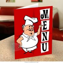 Happy Chef Italian Restaurant Menu Cover