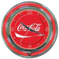 Coca-Cola Ribbon Chrome Red Neon Kitchen Clock