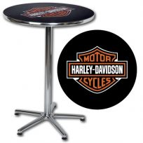 Harley-Davidson Bar and Shield Logo Bar Table
