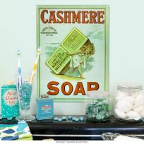 Cashmere Soap Reproduction Metal Sign