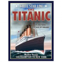 Titanic Cruise Ship Travel Metal Sign_D