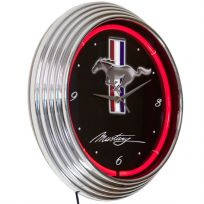 Ford Mustang Logo Neon Clock