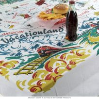 American Vacationland Tablecloth 72 x 58