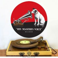 Nipper Dog RCA His Masters Voice Metal Sign