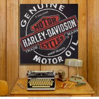 Harley-Davidson Genuine Motor Oil Can Canvas Print