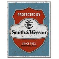 Protected By Smith And Wesson Shield Tin Sign