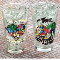 Marvel Comics Pint Glass Set For Her-Oes 16 oz_D