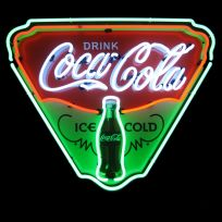 Coca-Cola Ice Cold Triangle Neon Diner Sign