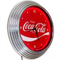 Coca-Cola Wave Logo Neon Clock