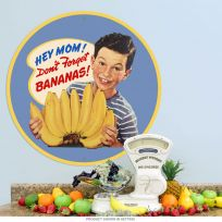 Hey Mom Dont Forget Bananas Metal Kitchen Sign_D