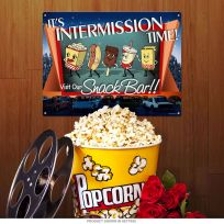 Intermission Time Dancing Snacks Home Theater Sign