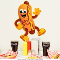 Hot Dog Dancing Snack Theater Metal Sign 16 x 20