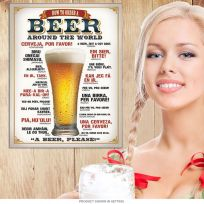 How to Order a Beer Around the World Tin Sign