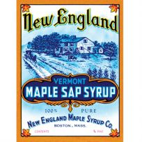 New England Maple Syrup Metal Kitchen Sign_D