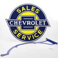 Chevy Sales Double Sided Large Steel Sign