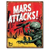 Mars Attacks Martian Sci-Fi Alien Tin Sign