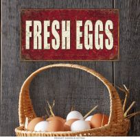 Fresh Eggs For Sale Farm Market Metal Sign