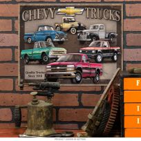 Chevy Trucks Tribute Since 1918 Tin Sign