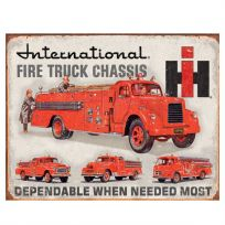 International Harvester Fire Truck Chassis Sign