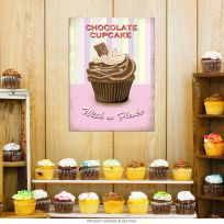 Chocolate Cupcake with a Flake Bakery Sign_D